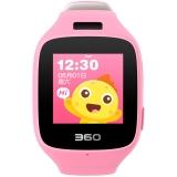 360儿童手表6C智能拍照版电话手表 智能语音 防丢GPS定位 360儿童电话 W703 彩屏电话手表 樱花粉