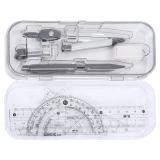 晨光(M&G)ACS90867 考试圆规直尺三角尺子量角器绘图组合套装8件套