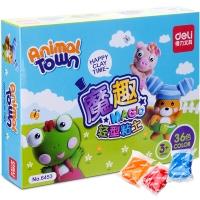 得力(deli)6453 魔趣轻型粘土/彩泥套装 3d彩泥DIY玩具 36色装