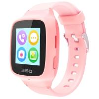 360儿童电话手表SE3 Plus 智能语音问答拍照安全定位 360儿童手表 W705 儿童学生腕式手机手环 樱花粉