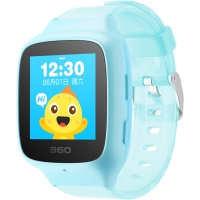 360儿童手表 彩色触屏版 防丢防水GPS定位 360儿童卫士 360儿童手表 SE 2 Plus W605 智能问答手表 松石蓝