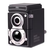 得力(deli)0668 可调粗细手摇削笔机器/转笔刀/铅笔卷笔刀 复古相机造型 黑