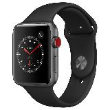Apple Watch Series 3智能手表(GPS+蜂窝网络款 42毫米 深空灰色铝金属表壳 黑色运动型表带 MQQT2CH/A)