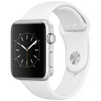 Apple Watch Sport Series 1智能手表(42毫米银色铝金属表壳 白色运动型表带 防水溅 蓝牙 MNNL2CH/A)