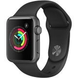 Apple Watch Sport Series 1智能手表(38毫米深空灰色铝金属表壳 黑色运动型表带 防水溅 蓝牙 MP022CH/A)