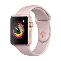 Apple Watch Series 3智能手表(GPS款 42毫米 金色铝金属表壳 粉砂色运动型表带 MQL22CH/A)