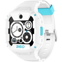 360电话手表X1 Pro 运动快充版 360青少年智能手表 4G智能语音视频安全定位防水腕式装备手机 白色