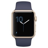 Apple Watch Series 1 智能手表(38毫米金色铝金属表壳 午夜蓝色运动型表带 防水溅 蓝牙 MQ102CH/A)