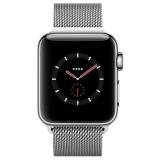 Apple Watch Series 3智能手表(GPS+蜂窝网络款 38毫米 不锈钢表壳 米兰尼斯表带 MR212CH/A)
