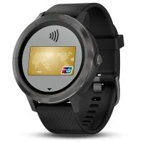 佳明(GARMIN)vivoactive 3 智能运动GPS光学心率手表 PVD镀膜 移动支付实时监测蓝牙来电提醒 遂空黑