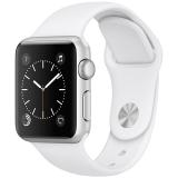 Apple Watch Sport Series 1智能手表(38毫米银色铝金属表壳 白色运动型表带  防水溅 蓝牙  MNNG2CH/A)