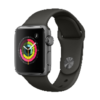 Apple Watch Series 3智能手表(GPS款 38毫米 深空灰色铝金属表壳 灰色运动型表带 MR352CH/A)