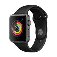 Apple Watch Series 3智能手表(GPS款 42毫米 深空灰色铝金属表壳 黑色运动型表带 MQL12CH/A)