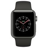 Apple Watch Series 3智能手表(GPS+蜂窝网络款 38毫米 深空灰色铝金属表壳 灰色运动型表带 MR332CH/A)