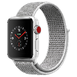 Apple Watch Series 3智能手表(GPS+蜂窝网络款 38毫米 银色铝金属表壳 海贝色回环式运动表带 MQQH2CH/A)
