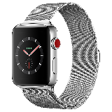 Apple Watch Series 3智能手表(GPS+蜂窝网络款 42毫米 不锈钢表壳 米兰尼斯表带 MR232CH/A)