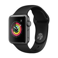 Apple Watch Series 3智能手表(GPS款 38毫米 深空灰色铝金属表壳 黑色运动型表带 MQKV2CH/A)