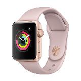 Apple Watch Series 3智能手表(GPS款 38毫米 金色铝金属表壳 粉砂色运动型表带 MQKW2CH/A)