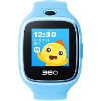 360儿童手表6W防水版 W609智能拍照 智能问答 防丢防水GPS定位 防水彩屏电话手表 天空蓝