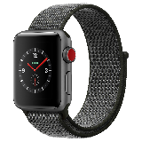 Apple Watch Series 3智能手表(GPS+蜂窝网络款 38毫米 深空灰铝金属表壳 深橄榄色回环式表带 MQQJ2CH/A)