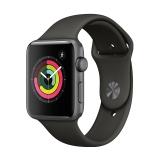 Apple Watch Series 3智能手表(GPS款 42毫米 深空灰色铝金属表壳 灰色运动型表带 MR362CH/A)