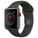 Apple Watch Series 3智能手表(GPS+蜂窝网络款 42毫米 深空灰色铝金属表壳 灰色运动型表带 MR342CH/A)