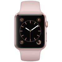 Apple Watch Series 1 智能手表(42毫米玫瑰金色铝金属表壳 粉砂色运动型表带 防水溅 蓝牙 MQ112CH/A)