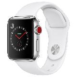 Apple Watch Series 3智能手表(GPS+蜂窝网络款 38毫米 不锈钢表壳 浅白色运动型表带 MQQL2CH/A)