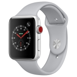 Apple Watch Series 3智能手表(GPS+蜂窝网络款 42毫米 银色铝金属表壳 云雾灰色运动型表带 MQQR2CH/A)