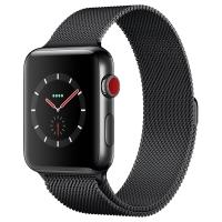 Apple Watch Series 3智能手表(GPS+蜂窝网络款 42毫米  深空黑米兰尼斯表带 MR242CH/A)