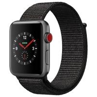 Apple Watch Series 3智能手表(GPS+蜂窝网络款 38毫米 深空灰铝金属表壳 黑色回环式运动表带 MRQJ2CH/A)