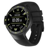 【TicWatchS 运动系列】智能手表谷歌技术3G通话内置GPS运动轨迹心率消息推送NFC支付兼容安卓苹果ios 峭壁黑