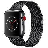 Apple Watch Series 3智能手表(GPS+蜂窝网络款 38毫米  深空黑米兰尼斯表带 MR222CH/A)