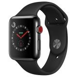 Apple Watch Series 3智能手表(GPS+蜂窝网络款 42毫米 深空黑色不锈钢表壳 黑色运动型表带 MQR02CH/A)