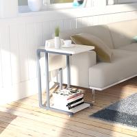 慧乐家 茶几 昊朗 型收纳边桌 简易沙发边几  白色 22033
