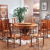 粤顺 红木餐桌 明式花梨木圆餐台 实木餐桌套装 Z32