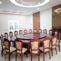 中伟餐桌圆桌酒店包厢电动转盘大圆桌火锅桌宴会桌