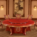 中伟餐桌圆桌酒店包厢转盘大圆桌宴会桌