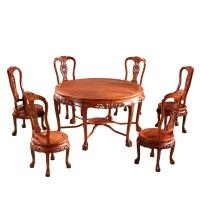粤顺 红木餐桌椅组合 实木餐桌 花梨木饭桌 MH18
