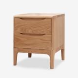 好事达易美 定制实木两抽床头柜 简约现代卧室白橡木床头柜 TC004