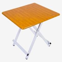 双箭懒人简易平折手提桌 边桌写字桌 竹木纹 SJ-1017