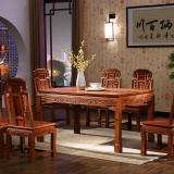 粤顺 红木餐桌 缅花实木餐桌 餐桌椅组合 MH41