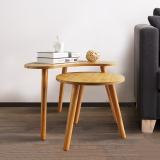 家莱美 创意边桌茶几茶桌边几 竹纹色 JLM15-8210