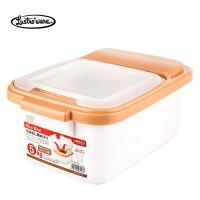 Lustroware米箱米桶双重密封厨房收纳五谷杂粮储存箱5KG 日本原装进口 B-2895