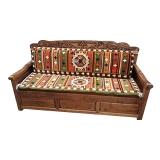 中伟中式实木彩绘藏式床仿古典罗汉床沙发法座西藏佛榻