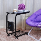 生活诚品 边桌 可移动收纳电脑桌 CJ30050B