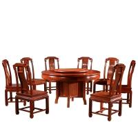 粤顺 红木餐桌 缅花圆餐台 实木餐桌椅组合 MH19