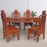 粤顺红木餐桌 花梨木中式餐桌 实木餐桌椅组合 Z02
