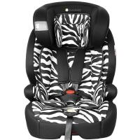 Zazababy儿童安全座椅9月-12岁isofix、latch双接口 2180Pro斑马纹