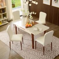 A家家具 餐桌 可折叠伸缩饭桌餐桌客厅 一桌六椅(双色可选 联系客服) DC2202